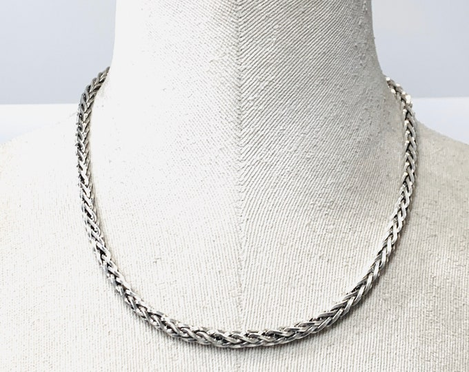 Vintage Sterling Silver 18 inch fancy link chain - fully hallmarked