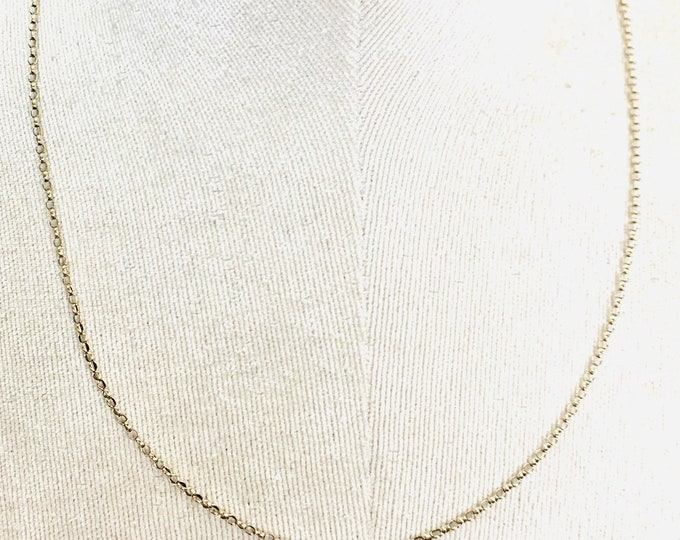 Vintage 9ct yellow gold 20 inch belcher link chain - fully hallmarked