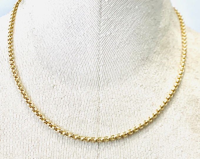 Superb heavy vintage 9ct yellow gold 18 inch Belcher link chain - Birmingham 1995 - 18.3gms