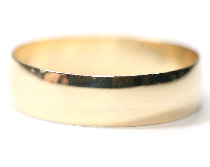 Vintage 9ct yellow gold Men's wedding ring - fully hallmarked - size Y or US 12
