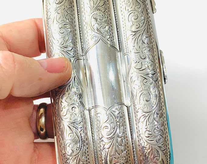 Fabulous 104 year old antique sterling silver Cigar case - hallmarked Birmingham 1915 - Joseph Gloster & Sons
