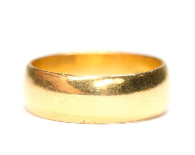 Stunning antique 22ct gold wedding ring - Birmingham 1938 - size L or US 5 1/2