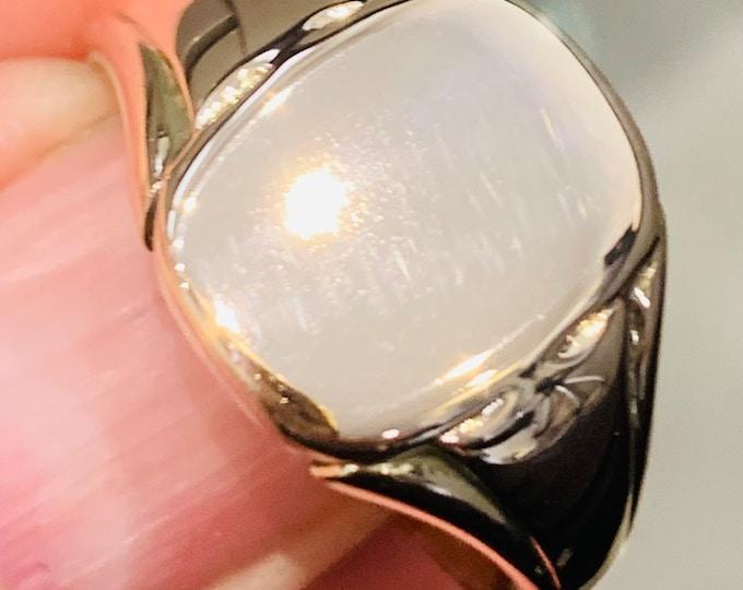 Superb heavy antique Edwardian 9ct rose gold signet ring - fully hallmarked - size V or US 10.5 - 7.5gms