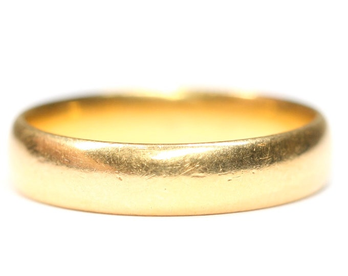 Stunning antique 22ct gold wedding ring - Birmingham 1932 - size M or US 6