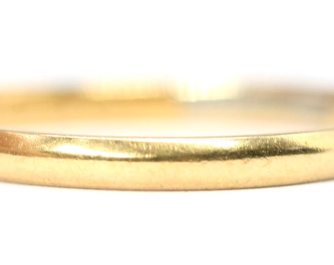 Stunning antique 22ct gold'Fidelity' wedding ring - hallmarked Chester 1934 - size N 1/2 or US 6 3/4