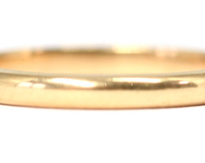 Vintage 22ct gold wedding ring - hallmarked London 1956 - size M or US 6