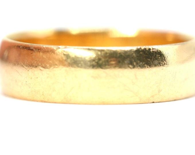 Superb antique 22ct gold wedding ring - hallmarked Birmingham 1912 - size Q or US 8 - 5.4gms