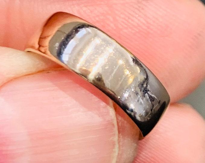 Rare Glasgow hallmarked Victorian 9ct rose gold wedding ring - hallmarked Glasgow 1896 - size L or US 5.5