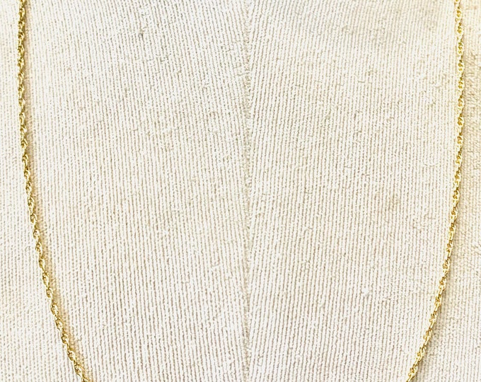 Superb vintage 9ct yellow gold 24 inch Prince of Wales link chain - hallmarked Birmingham 1983 - 6.9gms