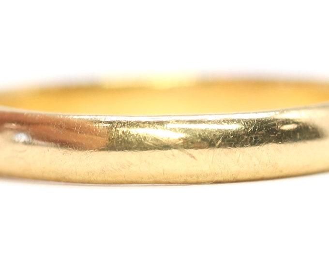 Antique 22ct gold wedding ring - hallmarked Birmingham 1931 - size L or US 5.5