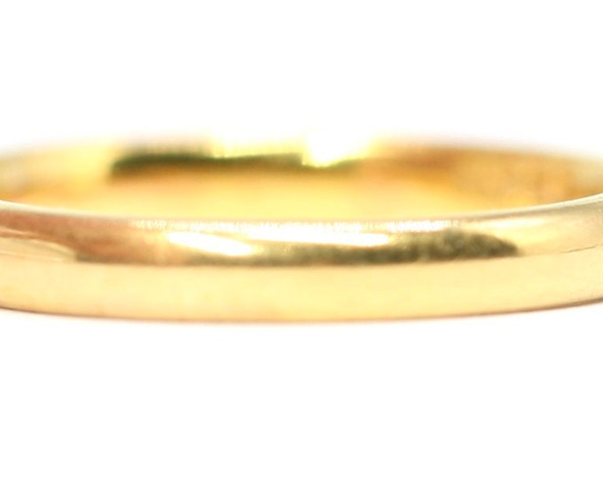 Superb vintage 22ct gold 'FIDELITY' wedding ring - hallmarked Birmingham 1941 - size H 1/2 or US 4