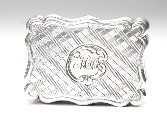 Superb 169 year old early Victorian sterling silver Vinaigrette - hallmarked Birmingham 1852 - Edward Smith