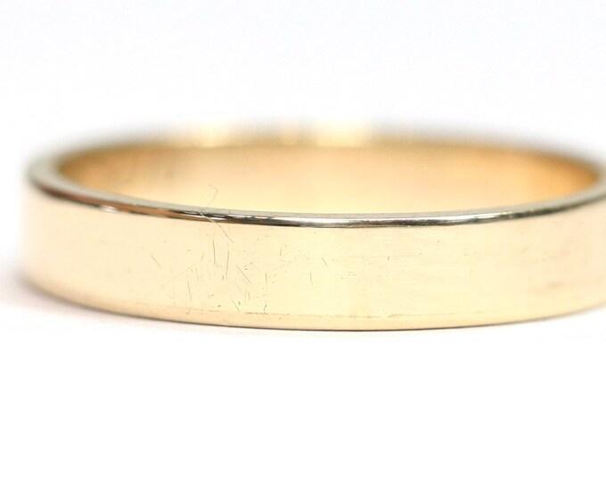 Vintage 9ct yellow gold wedding ring - hallmarked Birmingham 1970 - size N or US 6 1/2
