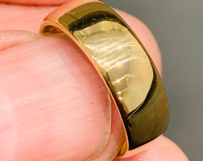 Heavy antique 22ct gold wedding ring - size K or US 5 - 5.2gms