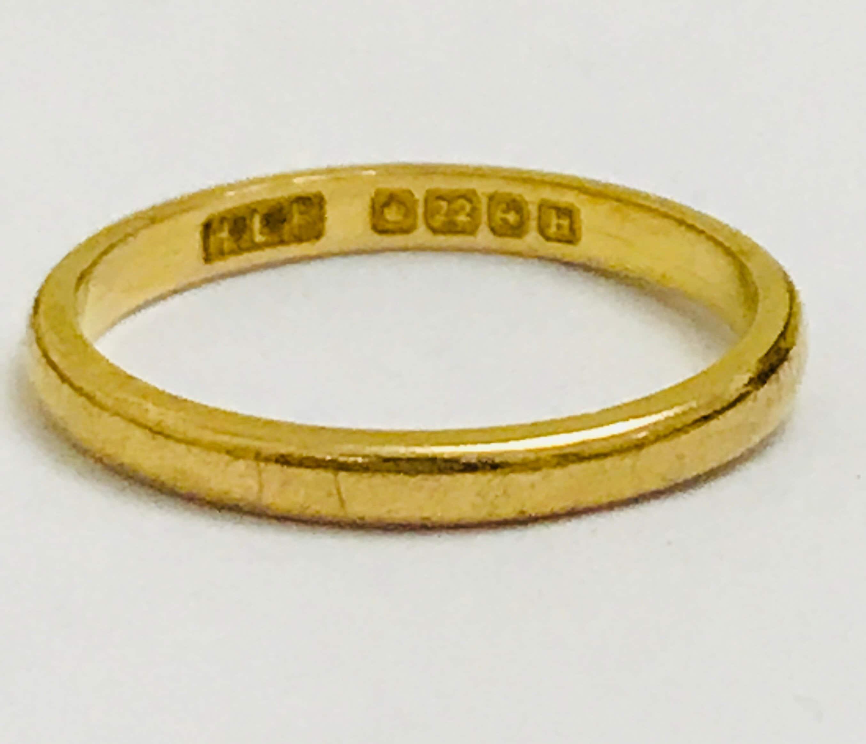 Antique 22ct Gold Wedding Ring Hallmarked Birmingham 1932