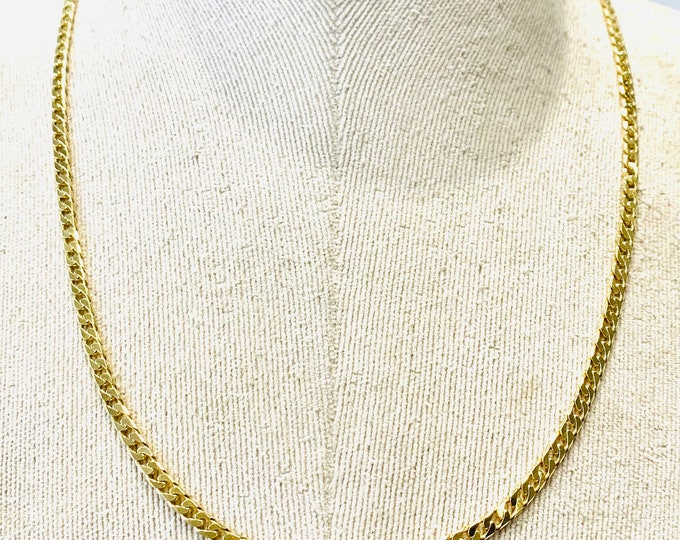 Superb vintage 9ct yellow gold 21 inch curb link chain - fully hallmarked - 15.7gms