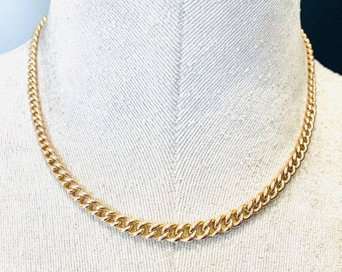 Superb antique 9ct rose gold 16 inch graduated Albert chain necklace - hallmarked Chester 1923 - 29gms