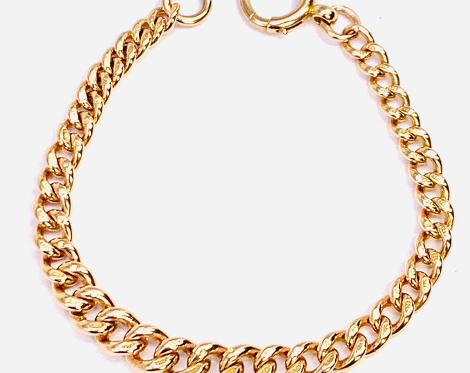 Fabulous antique Victorian 9ct rose gold 7 3/4 inch graduated Albert bracelet - fully hallmarked - 21gms
