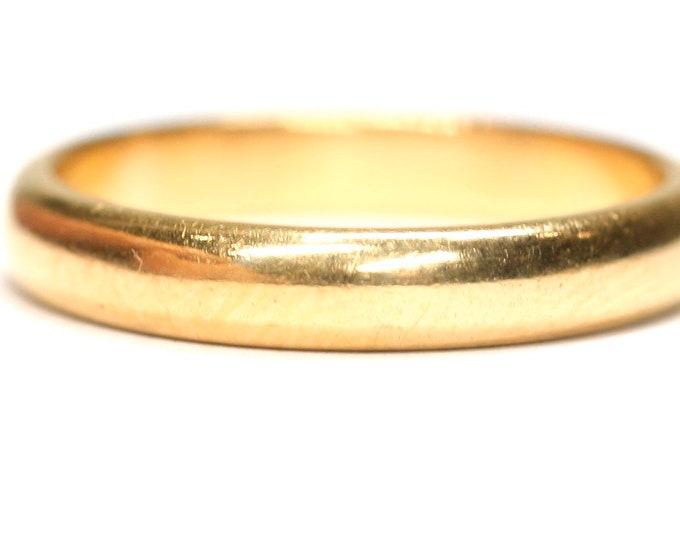 Vintage 22ct gold wedding ring - hallmarked Birmingham 1950 - size K or US 5