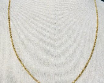 Stunning vintage 9ct yellow gold 20 inch fancy link chain - fully hallmarked
