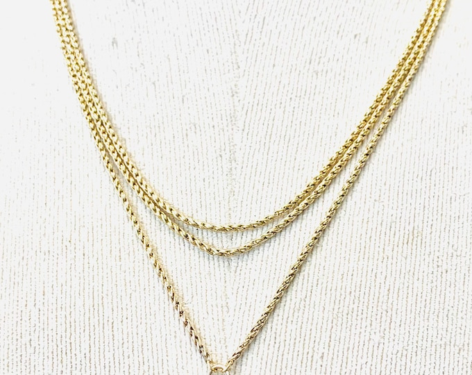 Stunning antique Victorian 9ct yellow gold 56 inch Muff / Guard chain - 18gms