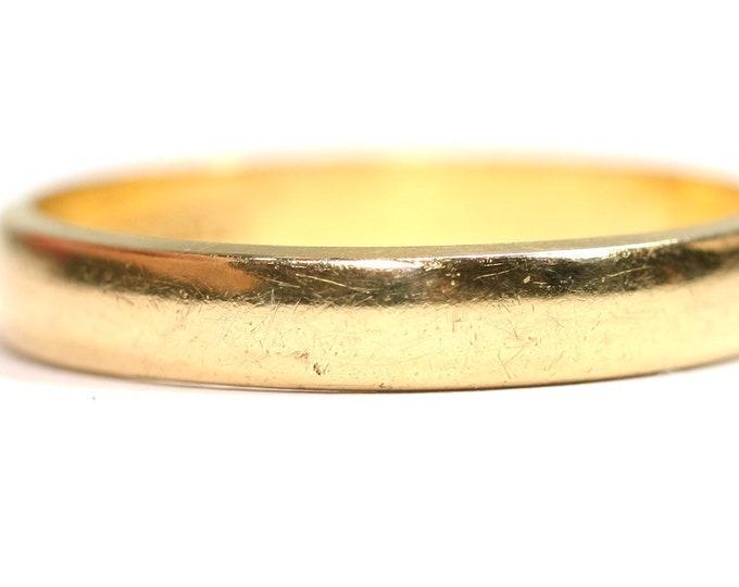 Vintage 22ct gold wedding ring - hallmarked Birmingham 1957 - size P or US 7.5