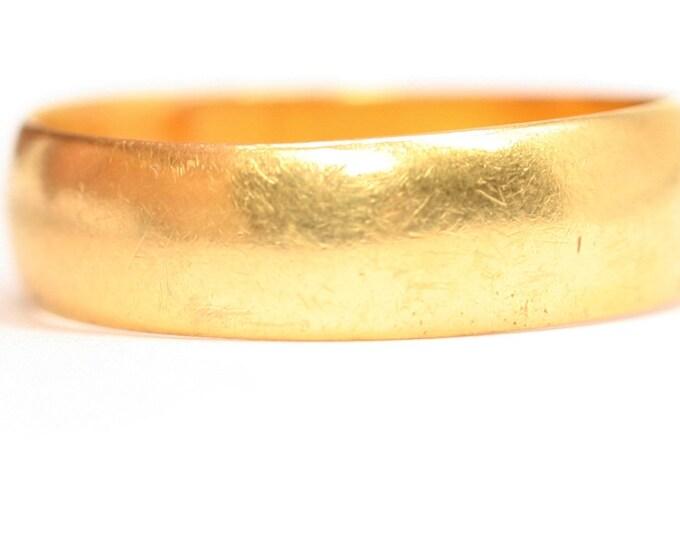 Superb antique 22ct gold wedding ring - hallmarked Birmingham 1914 - size P or US 7.5