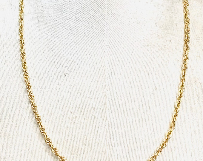 Stunning vintage heavy 9ct yellow gold 20 inch Prince of Wales chain - 15gms