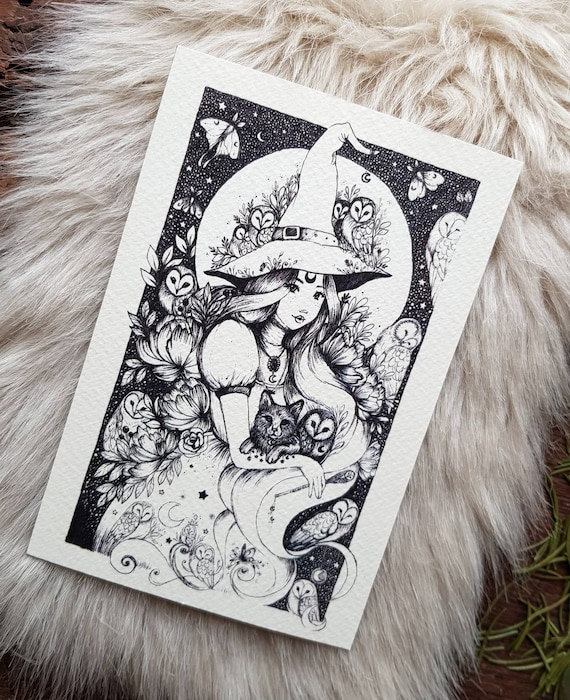 Original print: 6x4-inch owl charmer