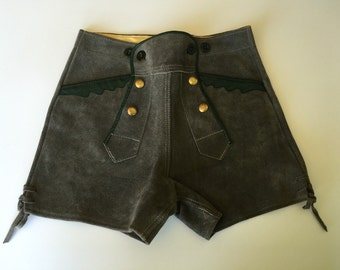 German made suede lederhosen high waisted shorts
