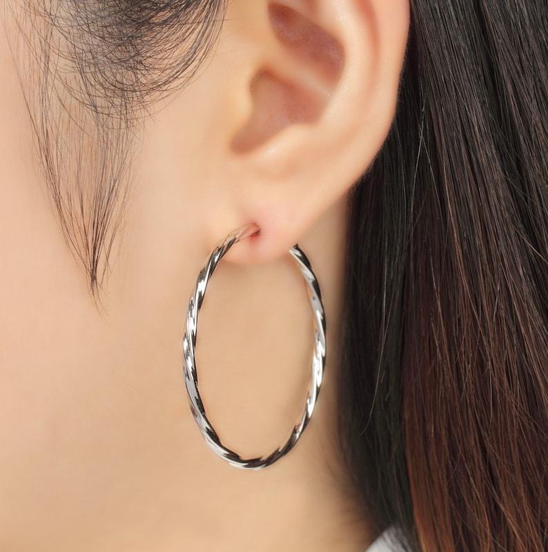 9a99e3755 No piercing non pierced hoop earrings no pierce minimal | Etsy
