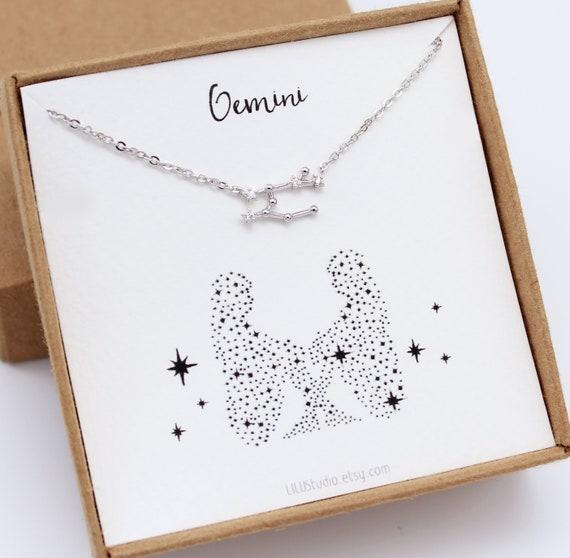 Post Queen Gemini Jewelry Constellation Gift Gemini Necklace Zodiac Gifts Gemini Gift Gemini Earrings