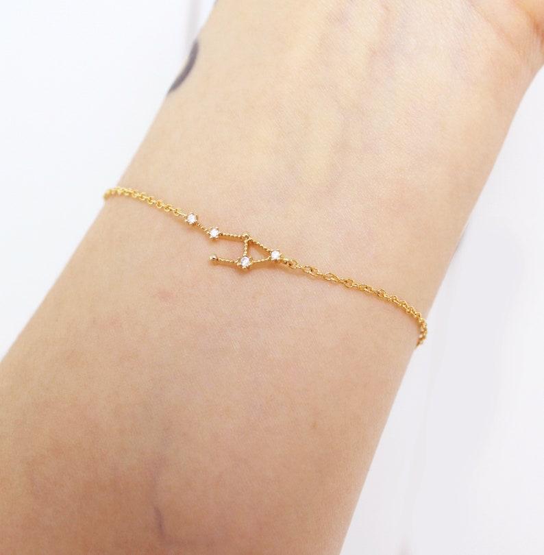 Libra bracelet horoscope bracelet constellation bracelet image 0