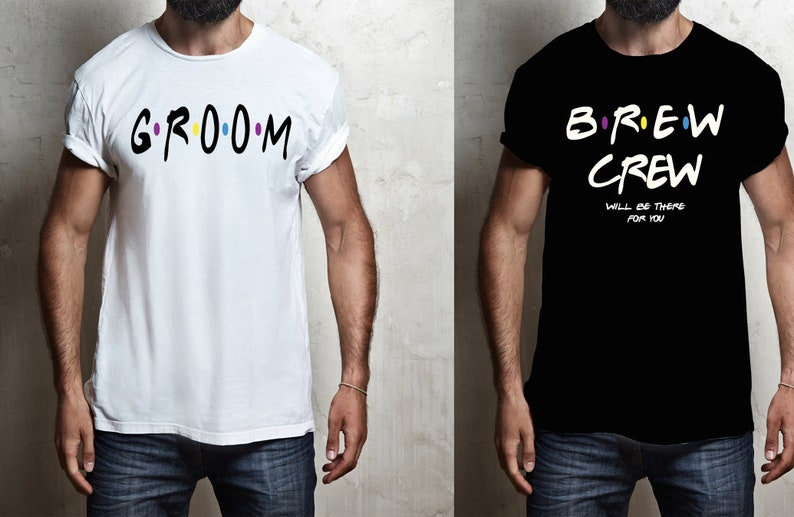 a0705903b Bachelore FRIENDS themed shirts BREW CREW shirts Groom tees   Etsy
