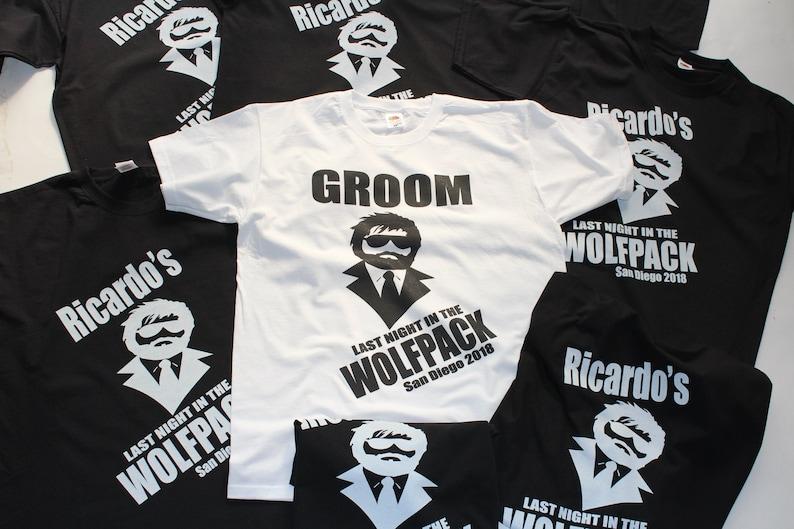 vrijgezel aankleden wolfpack shirt