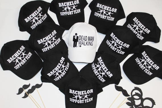 Bachelor Support Tesm Bachelor party hats Stag party and  e0a5f90b7036