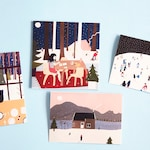 Eco-Illustrated Christmas Cards 4 Pack on Recycled Paper