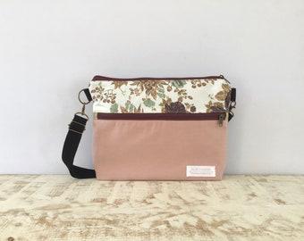 Bag, Shoulder Bag, Crossbody Bag, Women Bag, Woman Bag, Canvas Bag, Gift for Her, Floral Bag, Bag, Pink bag, Messenger Bag, Tote Bag