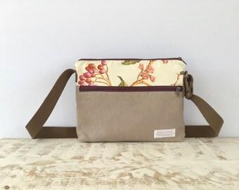 Bag, Shoulder Bag, Crossbody Bag, Women Bag, Woman Bag, Canvas Bag, Gift for Her, Floral Bag, Bag, Brown bag, Messenger Bag, Tote Bag