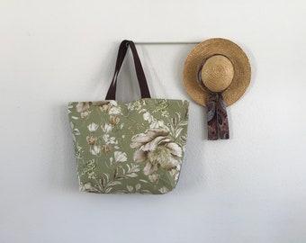 Maxi bag, Shopping bag, Beach bag, Gym bag, Women Bag, Woman bag, Canvas Bag, Gift for Her, Floral bag, Travel bag, Weekend bag,Shoulder bag