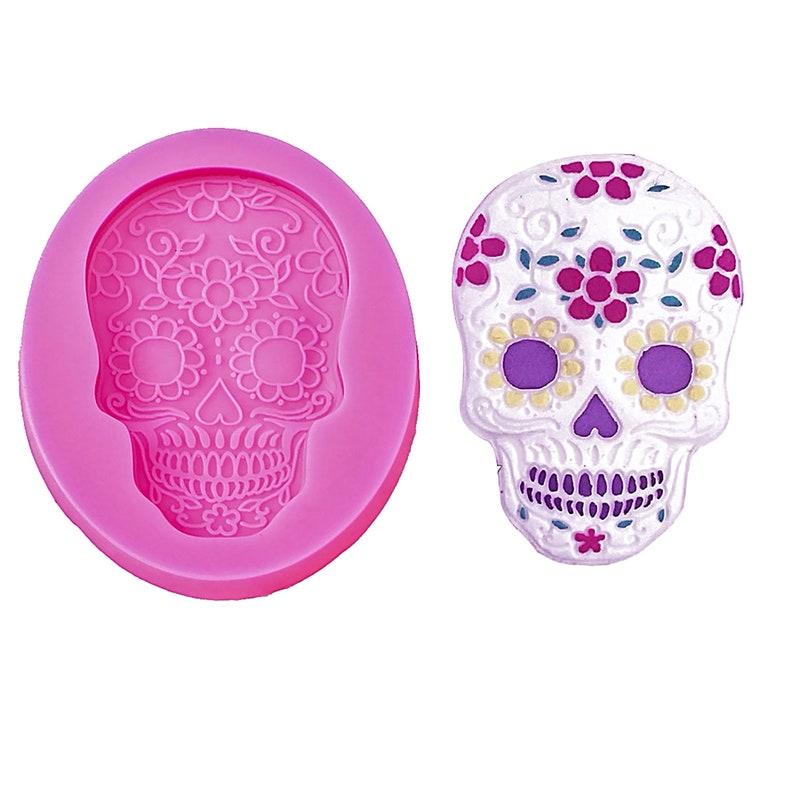 Sugar Skull Silicone Mold image 0