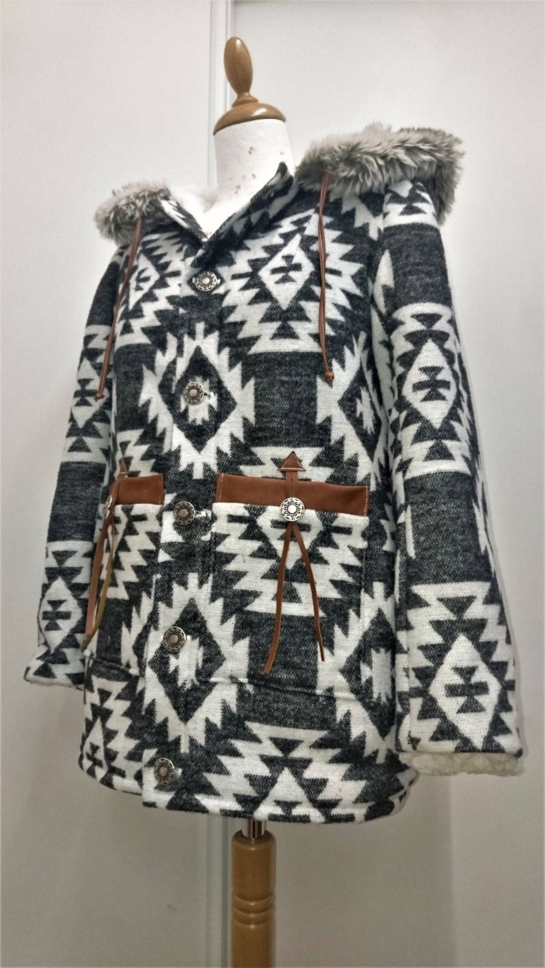 73b0e8425 Winter coat / Parka - Grey Native american
