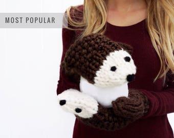 Cozy Hedgehog Mittens