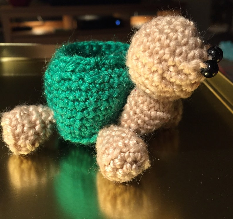 Turtle ring holder  jewellery box  crochet bowl.