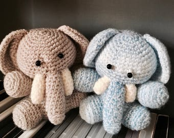 Elephant stuffed toy. Chrochet