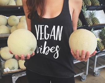 Vegan Vibes Tri-Blend Racerback, Vegan Lifestyle, Vegetarian, Health, Fitness