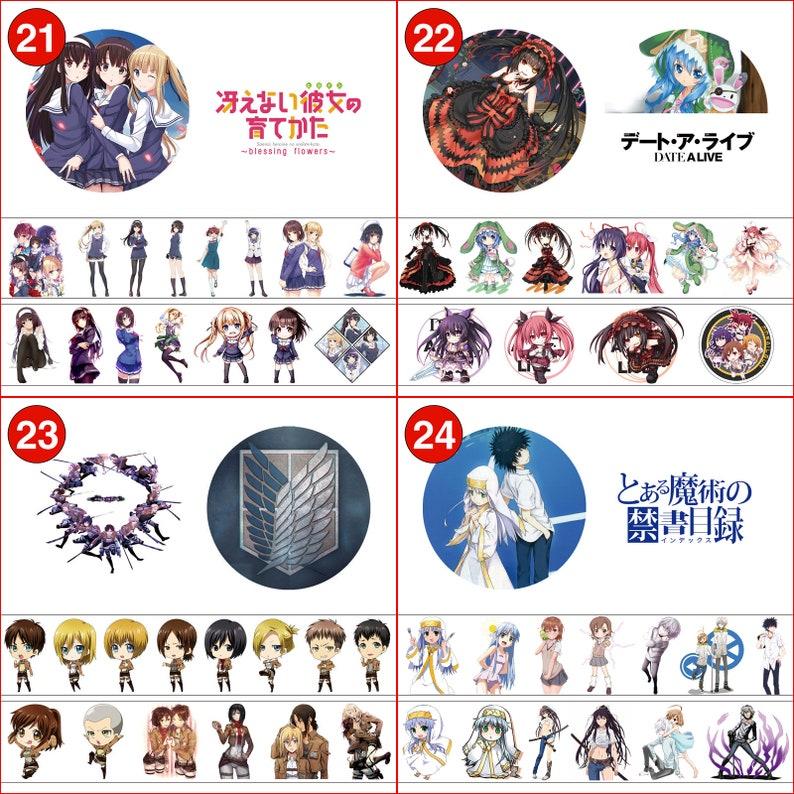 2PCS x Roll Anime Washi Tape BNHA Bungo Identity Attack on Titan Slime Honkai Impact Re Zero Azur Lane Himouto Fairy Tail Dororo Cells SAO