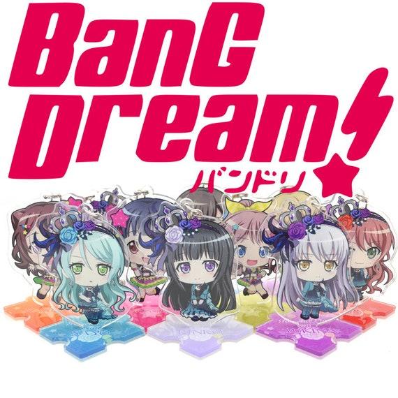 Bang Dream Roselia Anime Minato Yukina Hikawa Sayo Imai Lisa Acrylic Keychain