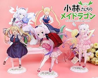 Miss Kobayashi's Dragon Maid Acrylic Standee Charm Display Figure Anime Kanna Kamui Quetzalcoatl Tohru Ilulu Fafnir Elma Shouta Magatsuchi
