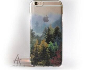 Translucent Forest iPhone X/8/8+/7/7+/SE/6/6S/6/6+/5/5S, Autumn Samsung S9/S9+/S8/S7/S7 EDGE/S6/S6 Edge, Galaxy S5, Huawei P9/P10,  T-193